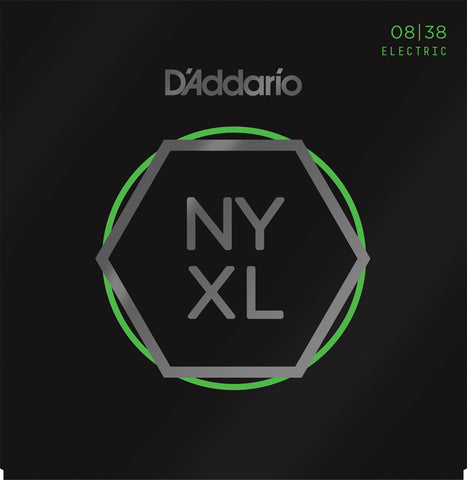 D'Addario NYXL0838 Nickel Wound Extra Super Light 08-38