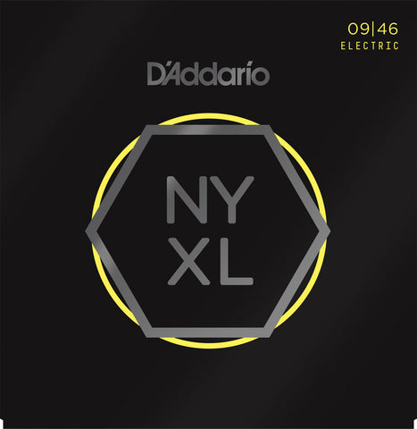 D'Addario NYXL0946 Nickel Wound Super Light Top/Regular Bottom 09-46