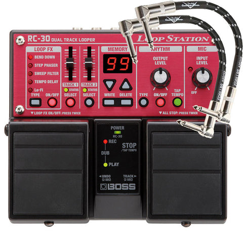 Boss RC-30 Loop Station with 2 FREE Patch  Cables