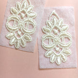 Base Dentelle Boucles d'Oreilles / Lace Base Leaf Earrings