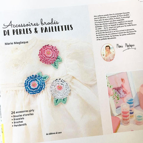 FRANCE - Embroidery Book DIY Accessories with beads & sequins