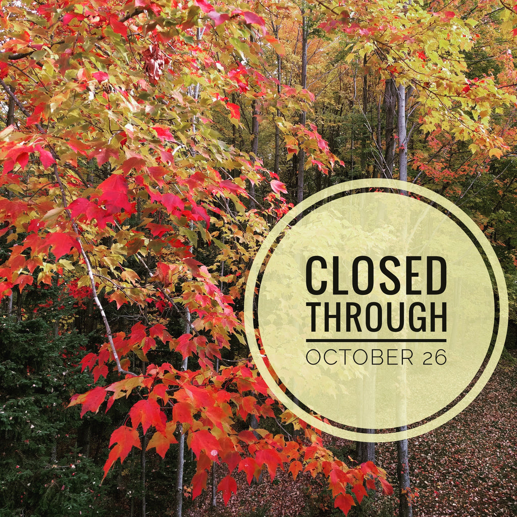 Shop closed through October 26