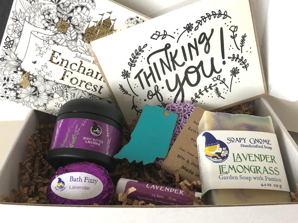 Cozy Crate: Birthday or Thinking of You Package (purple)