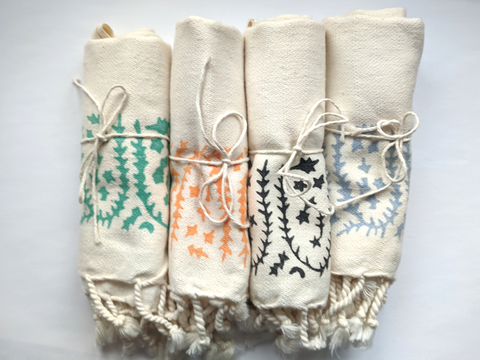 Hand Block Printed Turkish Tea Towel