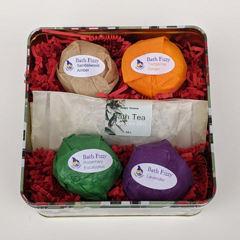 Bath Fizzies and Bath Tea Holiday Gift Box