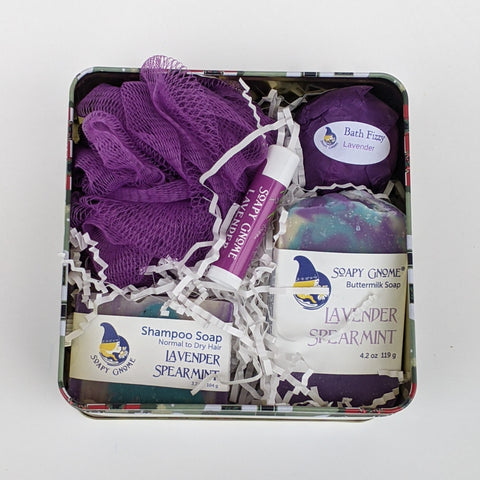 Lavender Spearmint Holiday Gift Box
