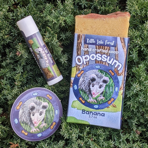 Banana Opossum Soap Kettle Lake Forest Collection