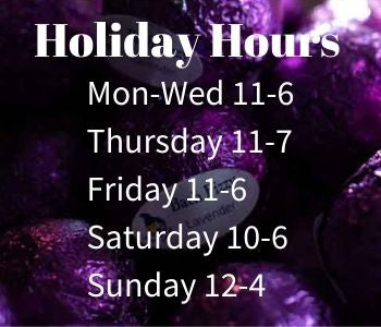 Shop hours and contact info