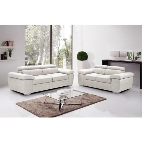 Amando Fabric 2 Seater Sofa Beige-Furniture-Retail Therapy Interiors