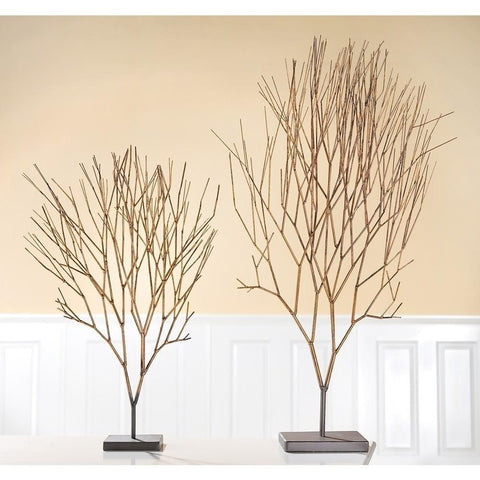 Antique Gold Metal Tree Sculpture-Accessories-Retail Therapy Interiors