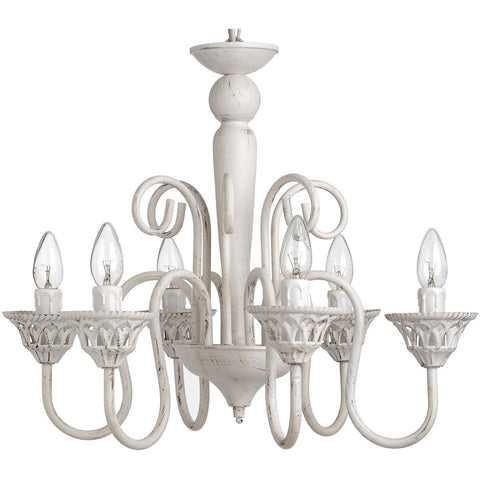 Antique White Chandelier 55cm-Lighting-Retail Therapy Interiors
