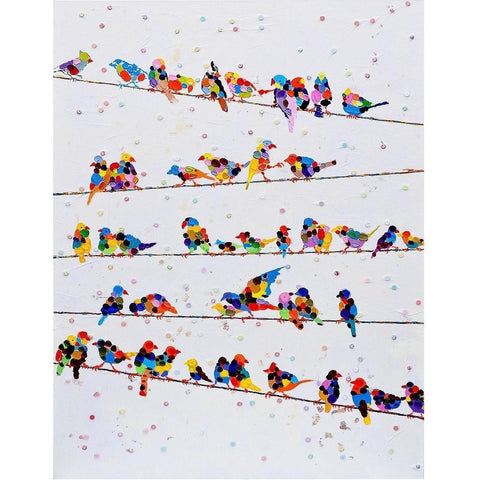 Birds on Wires Canvas Art-Wall Art-Retail Therapy Interiors