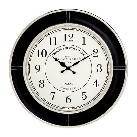 Black Churchill Wall Clock 58cm-Clocks-Retail Therapy Interiors