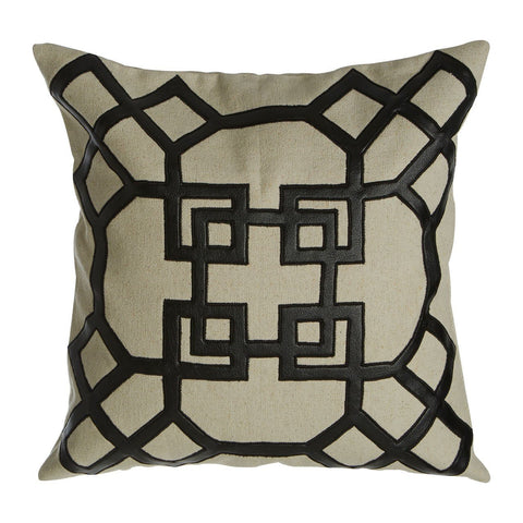 Black Geometric Cushion-Soft Furnishings-Retail Therapy Interiors