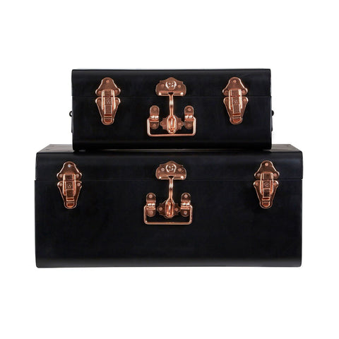 Black Storage Trunks-Furniture-Retail Therapy Interiors