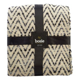 Bosie Woven Chevron Throw, Grey-Soft Furnishings-Retail Therapy Interiors