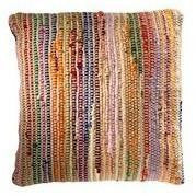Braided Jute and Cotton Cushion Rainbow-Soft Furnishings-Retail Therapy Interiors