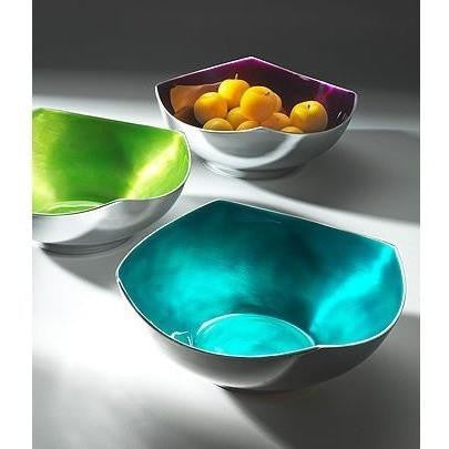 Brushed Coloured Aluminium Salad Bowl-Kitchenware-Retail Therapy Interiors