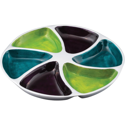 Brushed Multi Aluminium Swirl Dip Tray-Kitchenware-Retail Therapy Interiors