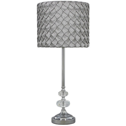Bubble Lamp With Grey Folds Shade 57cms-Lighting-Retail Therapy Interiors