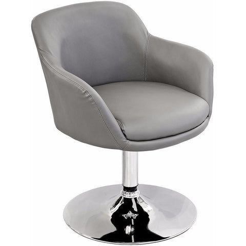 Bucketeer Swivel Chair Grey-Furniture-Retail Therapy Interiors