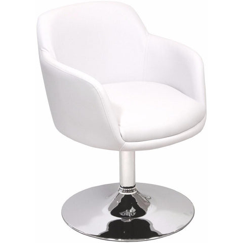 Bucketeer Swivel Chair White-Furniture-Retail Therapy Interiors