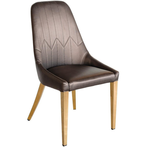 Camberley Dining Chair with Rose Gold Legs-Furniture-Retail Therapy Interiors