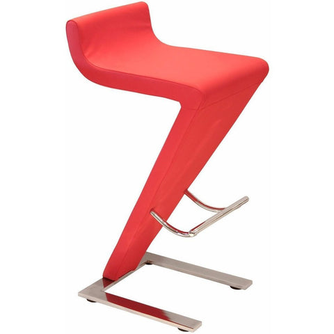 Carrello Bar Stool Red PU-Furniture-Retail Therapy Interiors