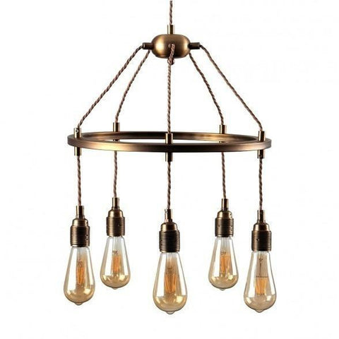 Cartwheel 5 Way Over Table Ceiling Light-Lighting-Retail Therapy Interiors
