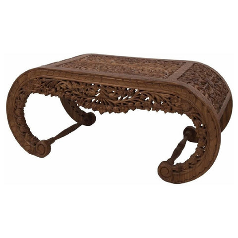 Carved Oval Framed Coffee Table-Furniture-Retail Therapy Interiors