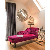 Chesterfield Chaise Longue, Purple-Furniture-Retail Therapy Interiors