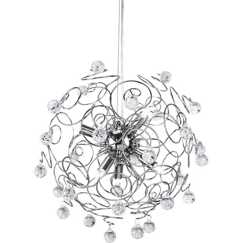 Chrome & Crystal Pendant Light-Lighting-Retail Therapy Interiors