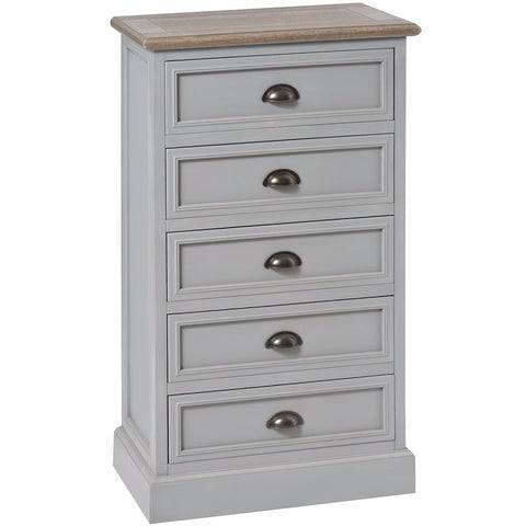 Churchill Five Drawer Tallboy-Furniture-Retail Therapy Interiors