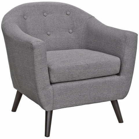 Cleo Fabric Tub Chair Grey-Furniture-Retail Therapy Interiors