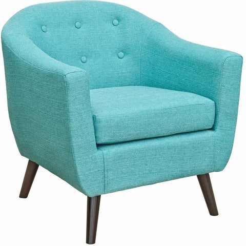 Cleo Fabric Tub Chair Teal-Furniture-Retail Therapy Interiors