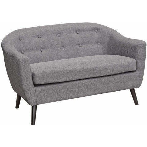 Cleo Fabric Two Seater Sofa Grey-Furniture-Retail Therapy Interiors