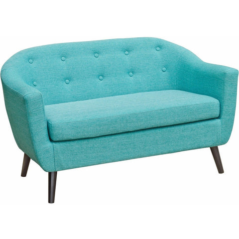 Cleo Fabric Two Seater Sofa Teal-Furniture-Retail Therapy Interiors