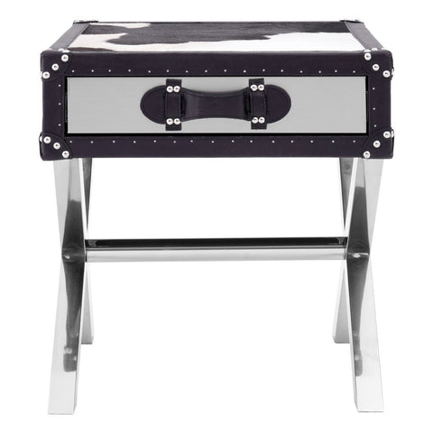 Cowhide 1 Drawer Table-Furniture-Retail Therapy Interiors
