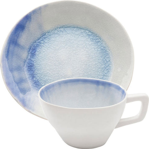 Crackle White Blue Coffee Cup Set-Kitchenware-Retail Therapy Interiors
