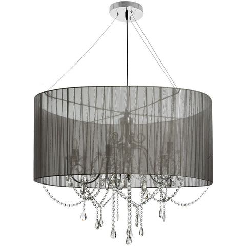 Crystal Drop Chandelier Pendant 90cm-Lighting-Retail Therapy Interiors