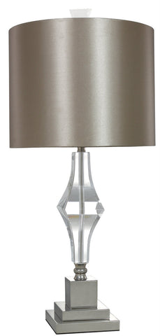 Cut Glass Table Lamp With Champagne Shade-Lighting-Retail Therapy Interiors
