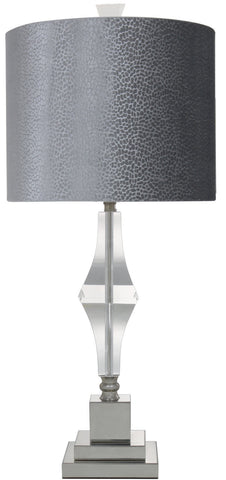 Cut Glass Table Lamp With Snakeskin Shade-Lighting-Retail Therapy Interiors