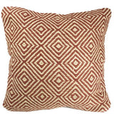 Diamond Pattern Cushion 100% Jute Red-Soft Furnishings-Retail Therapy Interiors