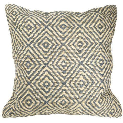 Diamond Pattern Cushion 100% Jute Sage-Soft Furnishings-Retail Therapy Interiors
