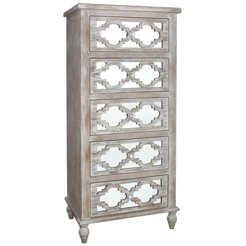 Dusky Beach 5 Drawer Tall Cabinet-Furniture-Retail Therapy Interiors