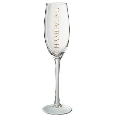 Elegant Champagne Glass, Gold-Kitchenware-Retail Therapy Interiors