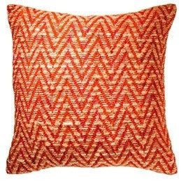 Fancy Recycled Yarn Cushion Arrow Burnt Orange-Soft Furnishings-Retail Therapy Interiors
