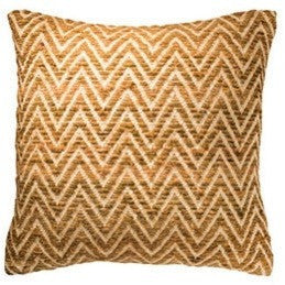 Fancy Recycled Yarn Cushion Arrow Natural-Soft Furnishings-Retail Therapy Interiors
