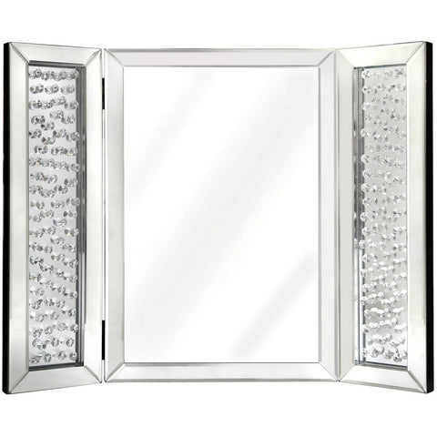 Floating Crystal Tri-Fold Vanity Mirror-Mirrors-Retail Therapy Interiors