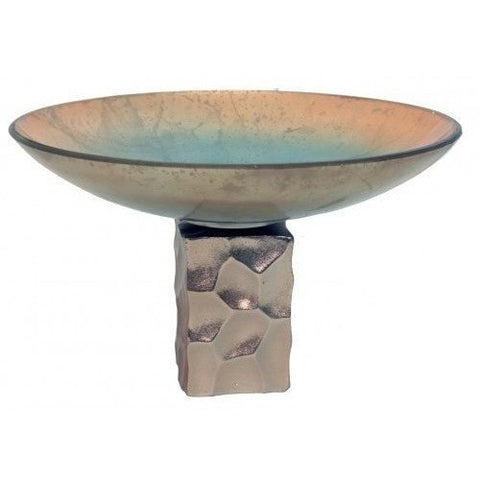 Frosted Bermuda Glass Bowl on Stem-Accessories-Retail Therapy Interiors